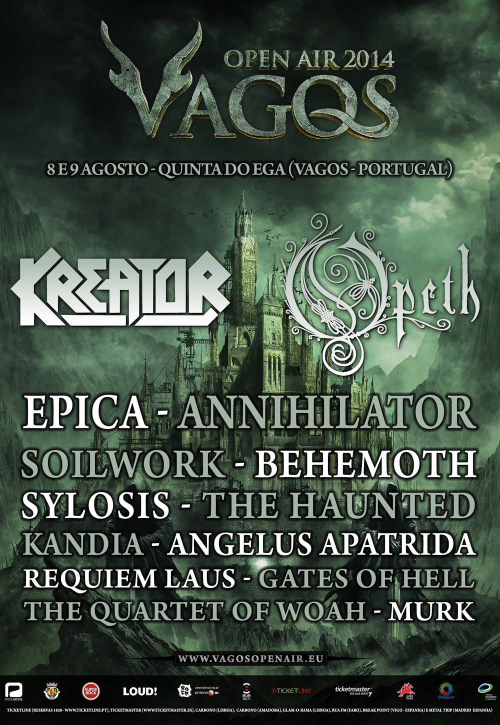 VAGOS OPEN AIR 2014: <br> BEHEMOTH e THE QUARTET OF WHOA! confirmados!