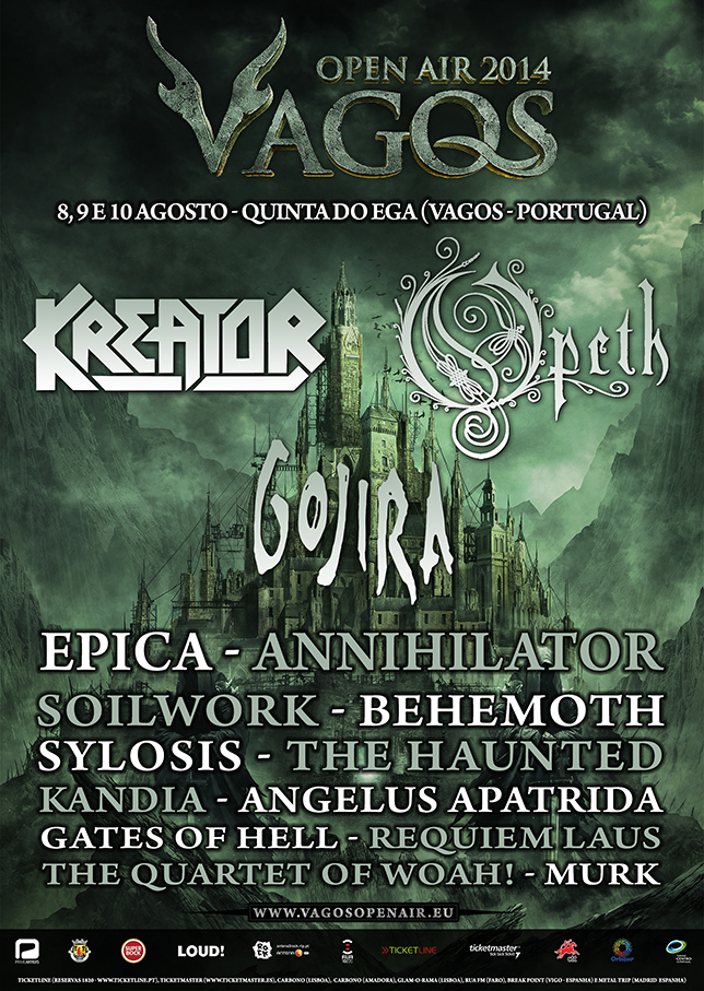 VAGOS OPEN AIR 2014: <br /> GOJIRA confirmados!
