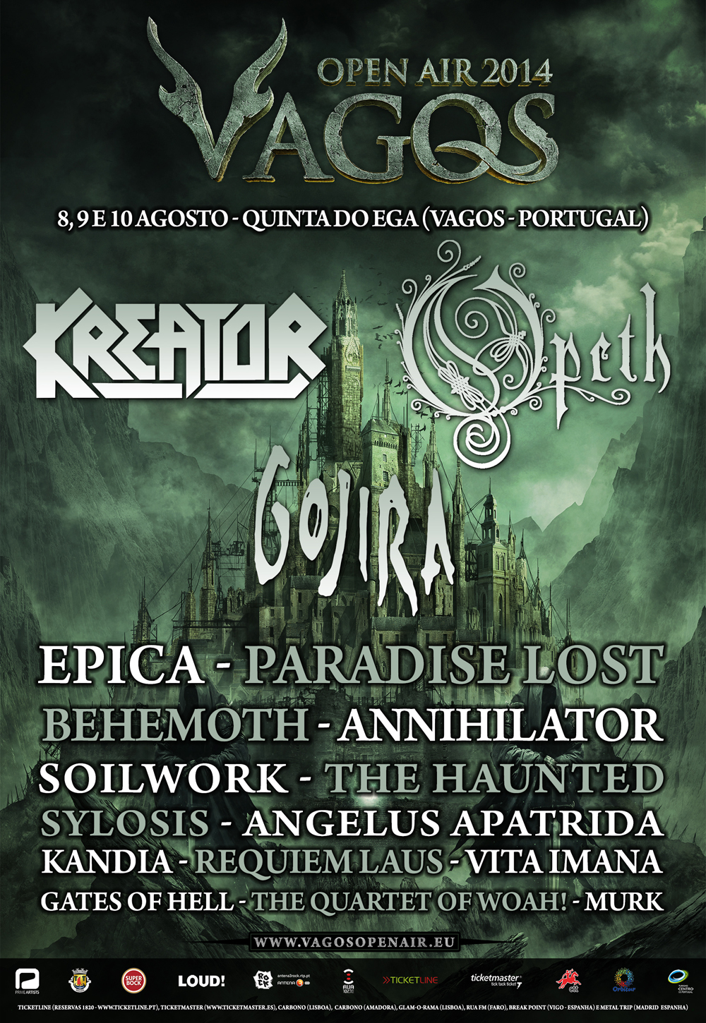 VAGOS OPEN AIR 2014: <br /> PARADISE LOST fecham cartaz!