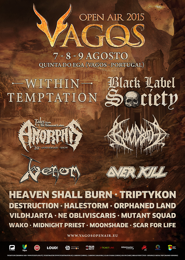 VAGOS OPEN AIR 2015: <br /> Cartaz encerrado!